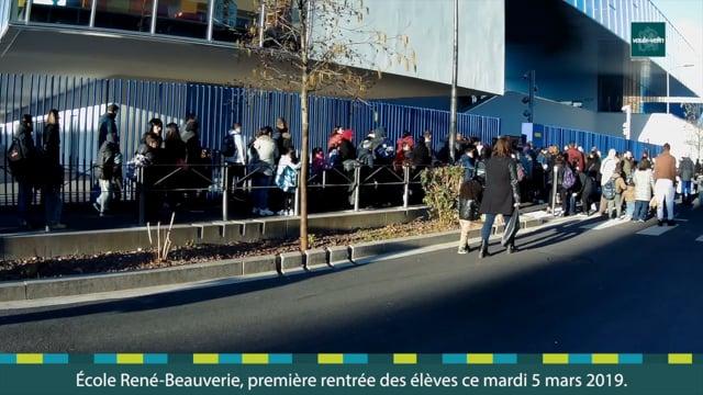 École René Beauverie première rentrée des élèves ce mardi 5 mars 2019