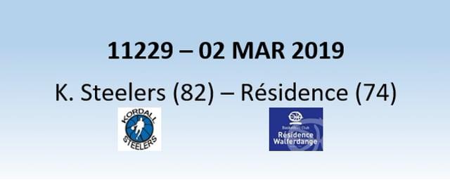 N1H 11229 Kordall Steelers (82) - Résidence Walferdange (74) 02/03/2019