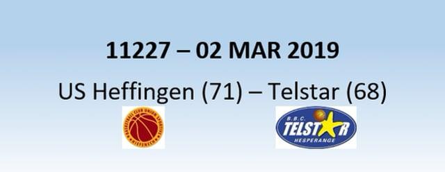 N1H 11227 US Heffingen (71) - Telstar Hesperange (68) 02/03/2019
