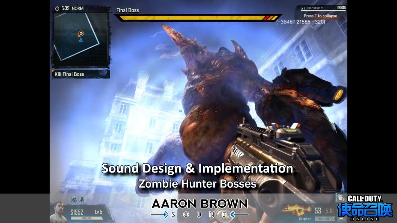 Sound Design Demo - Call Of Duty Online
