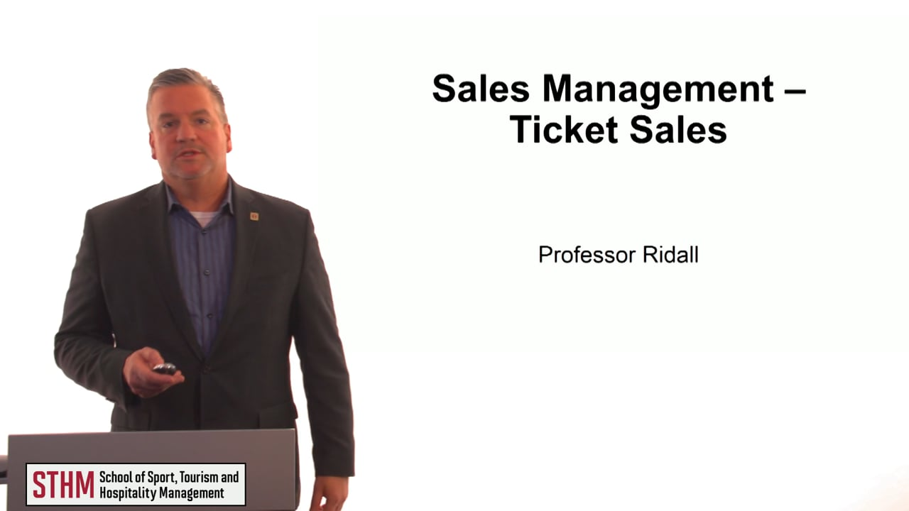 61297Sales Management – Ticket Sales
