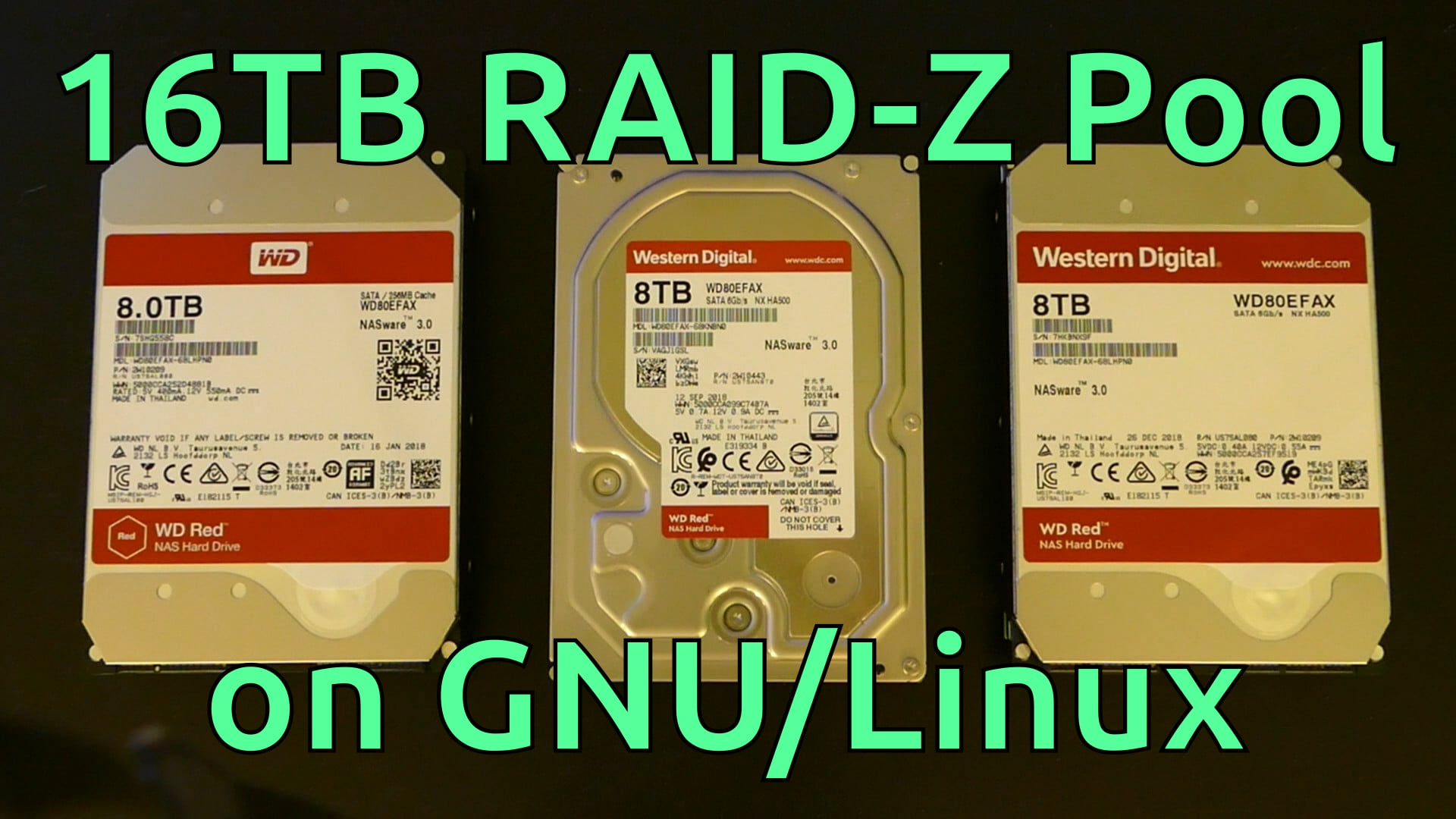8TB WD Red Unboxings + ZFS Storage Pool on Linux