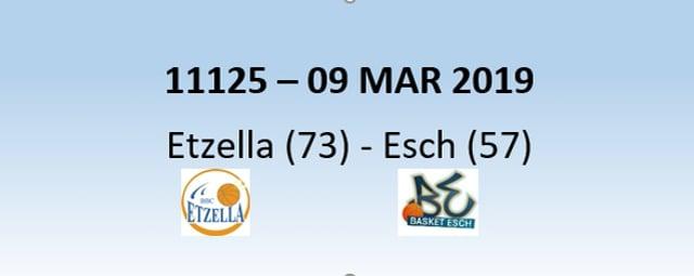 N1H 11125 Etzella Ettelbruck (73) - Basket Esch (57) 09/03/2019
