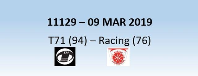 N1H 11129 T71 Dudelange (94) - Racing Luxemburg (76) 09/03/2019