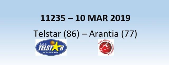 N1H 11235 Telstar Hesperange (86) - Arantia Larochette (77) 10/03/2019
