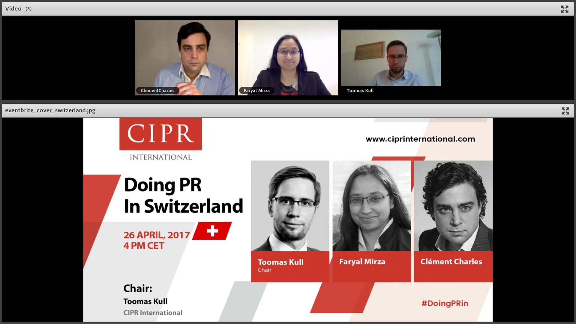 CIPR International - #DoingPRin Switzerland - 2017