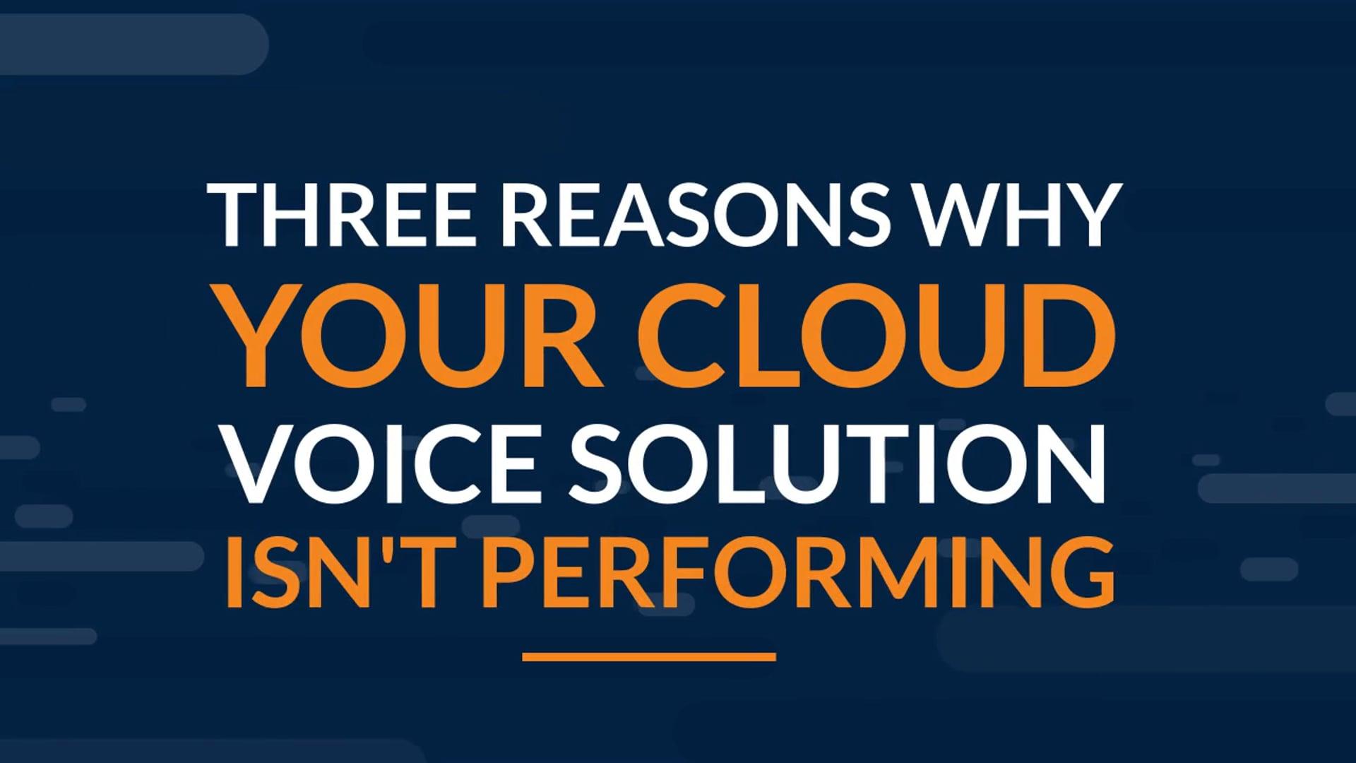 Cloud Voice | SD-WAN Quality Assurance