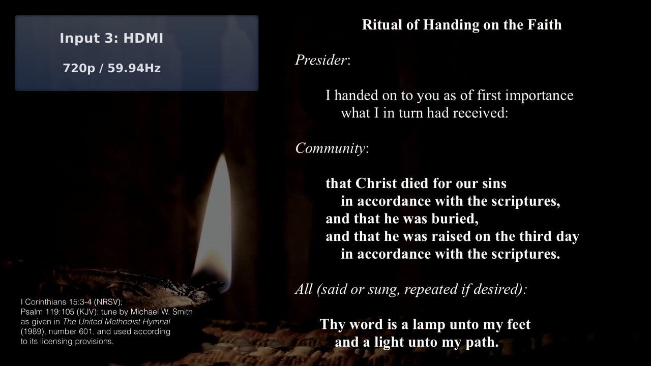 Deeper Christian Faith: Holy Feast (Communion)