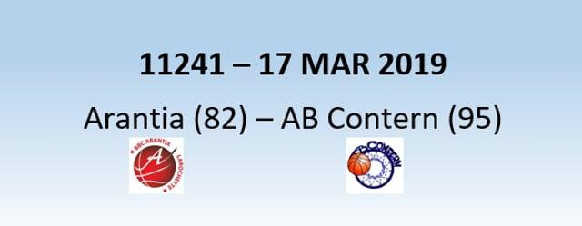 N1H 11241 Arantia Larochette (82) – AB Contern (95) 17/03/2019