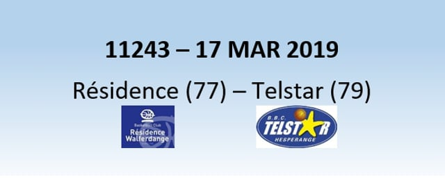 N1H 11243 Résidence Walferdange (77) - Telstar Hesperange (79) 17/03/2019