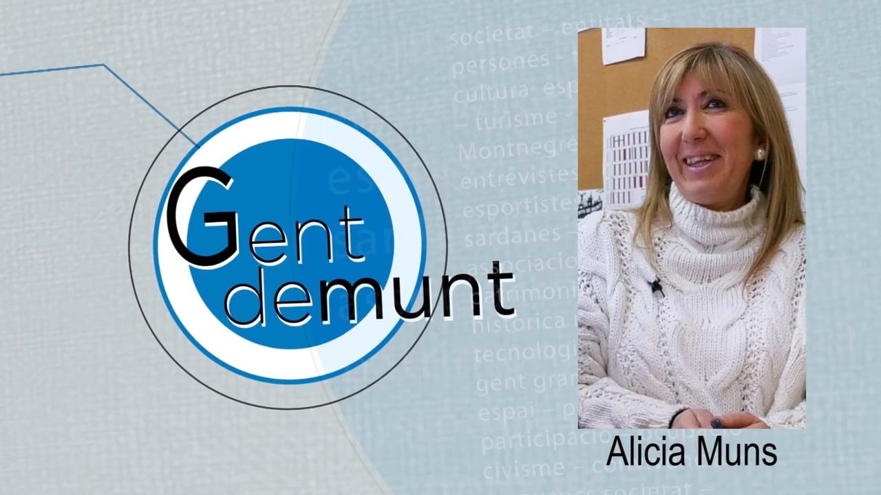 """Alicia Muns: """"A casa ja saben que la meva prioritat és la feina"""""""