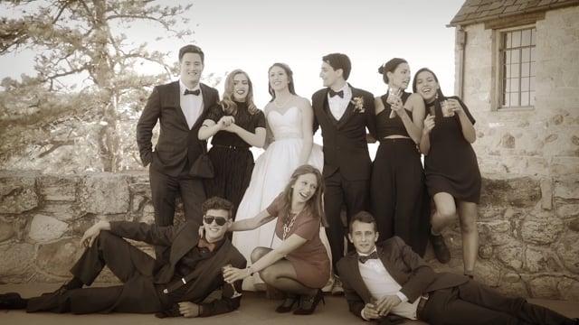 Kristen + Prescott Wedding Party Vignette - Highlights Teaser - Cherokee Ranch Park + Castle, Sedalia, CO