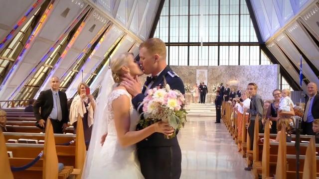 Dan + Courtney Wedding Highlights - Air Force Academy Chapel - Colorado Springs