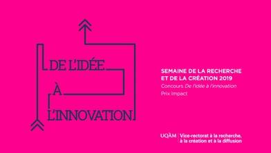 Concours « De l'idée à l'innovation » - Équipe finaliste au Prix Impact : Pour que les enseignants ne perdent pas le nord