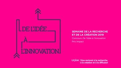 Concours « De l'idée à l'innovation » - Équipe finaliste au Prix Impact : Jumelage interculturel