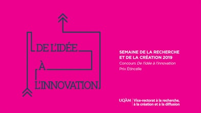 Concours « De l'idée à l'innovation » - Équipe finaliste au Prix Étincelle : Musique et levier social