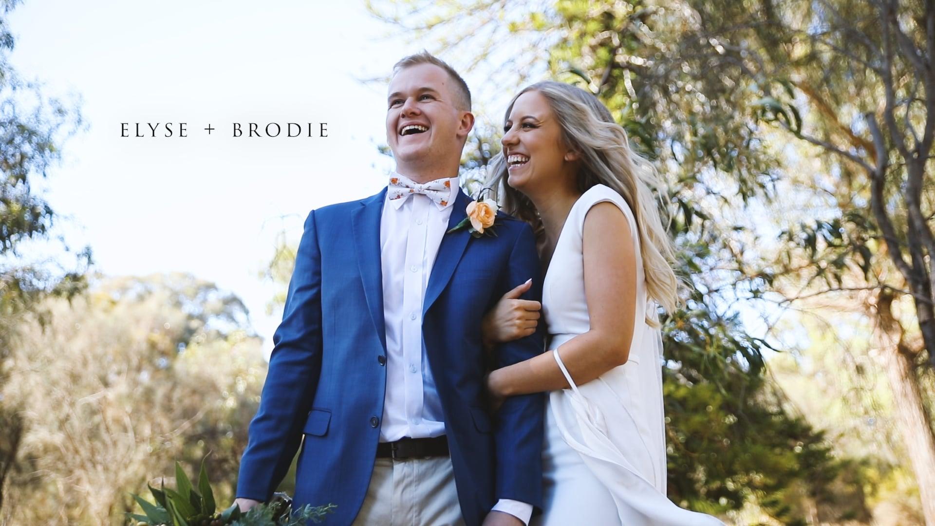 Elyse & Brodie Wedding Story
