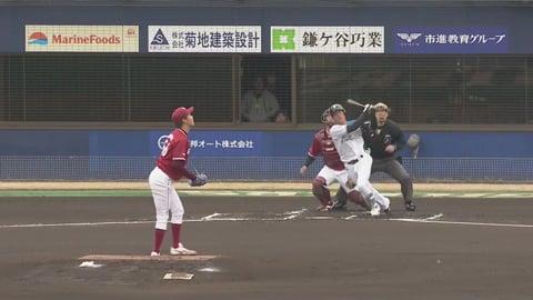 【ファーム】ファイターズ・姫野が先頭打者ホームランを放ち先制!! 2019/3/23 F-E(ファーム)