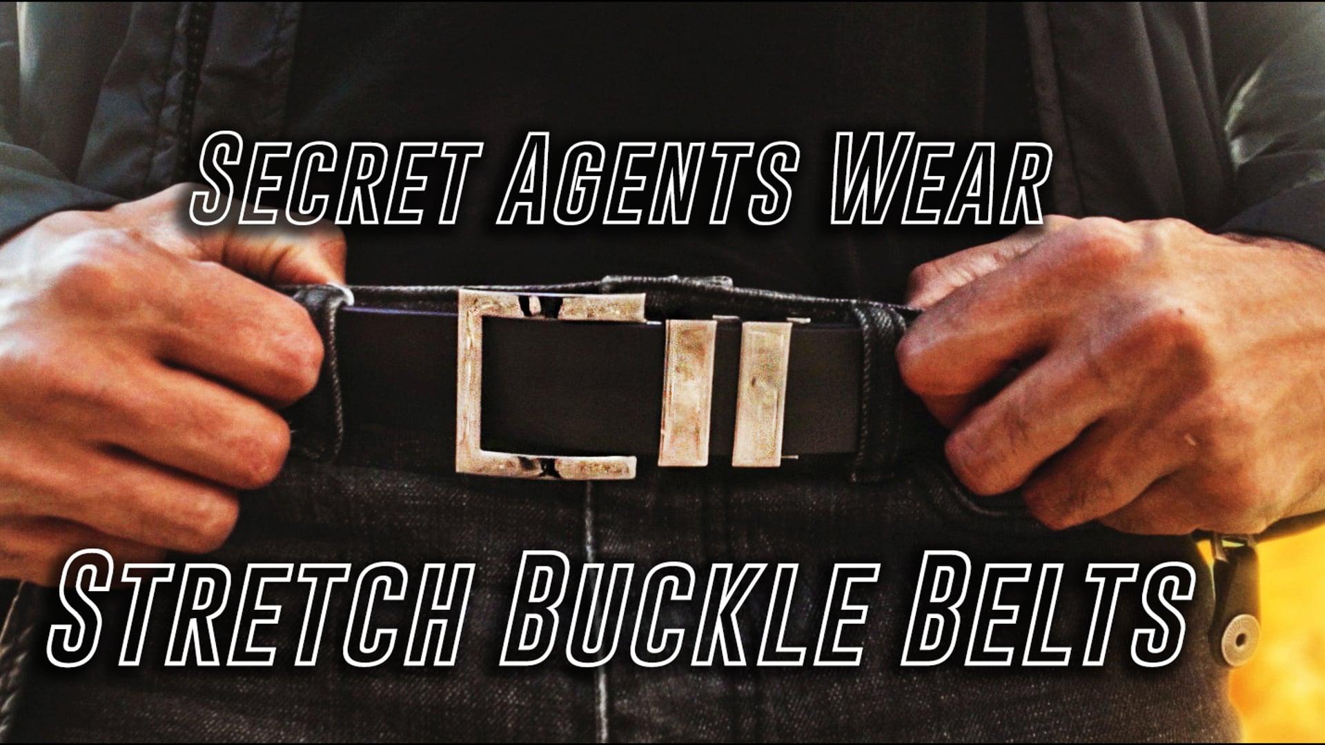 SECRET AGENTS WEAR STRETCH BUCKLE BELTS