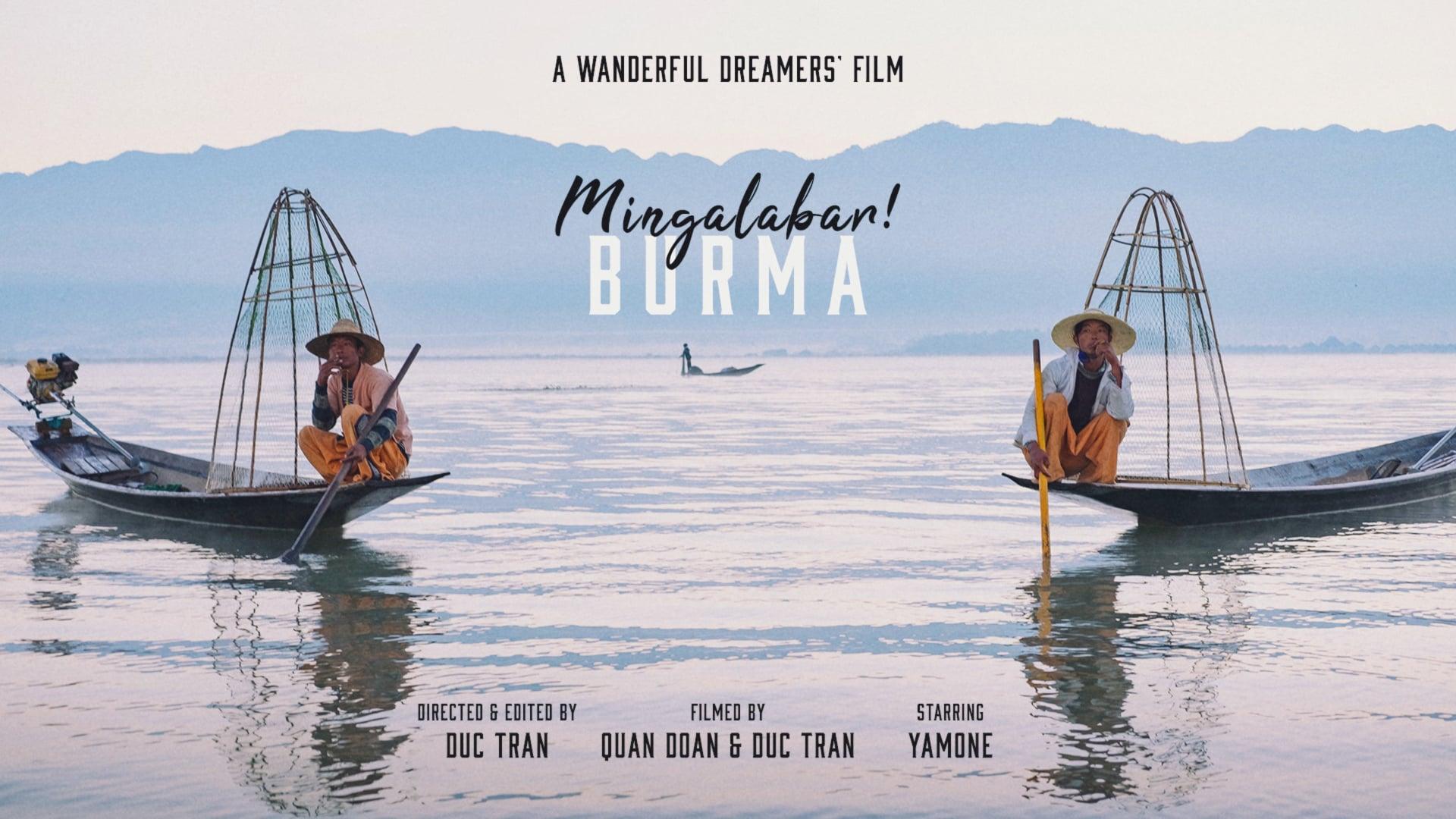 Mingalabar Burma!