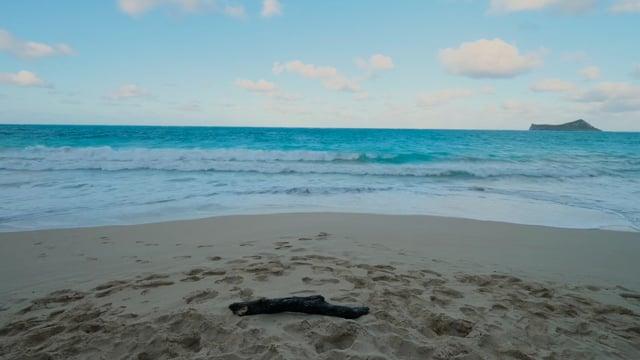 Relaxing Beach Waves, Oahu Island, Hawaii