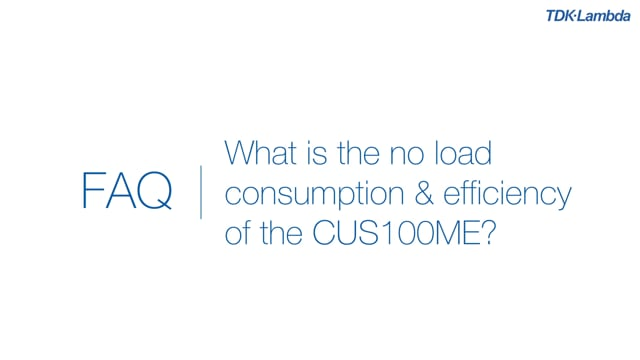 What is the no load consumption and efficiency of CUS100ME medical power supplies?