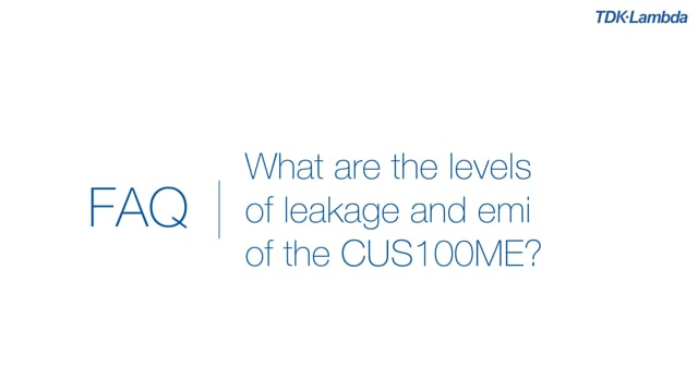 What are the levels of leakage current and emi for CUS100ME medical power supplies?