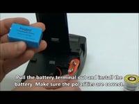 Digital Oxygen Sensor (Pro OX100) — Battery Installation