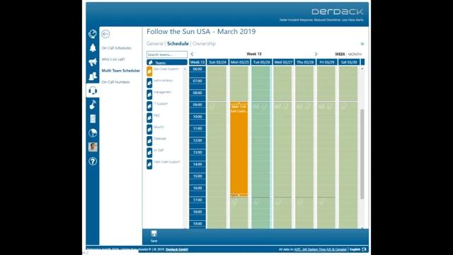 Follow-the-Sun Scheduling in Enterprise Alert