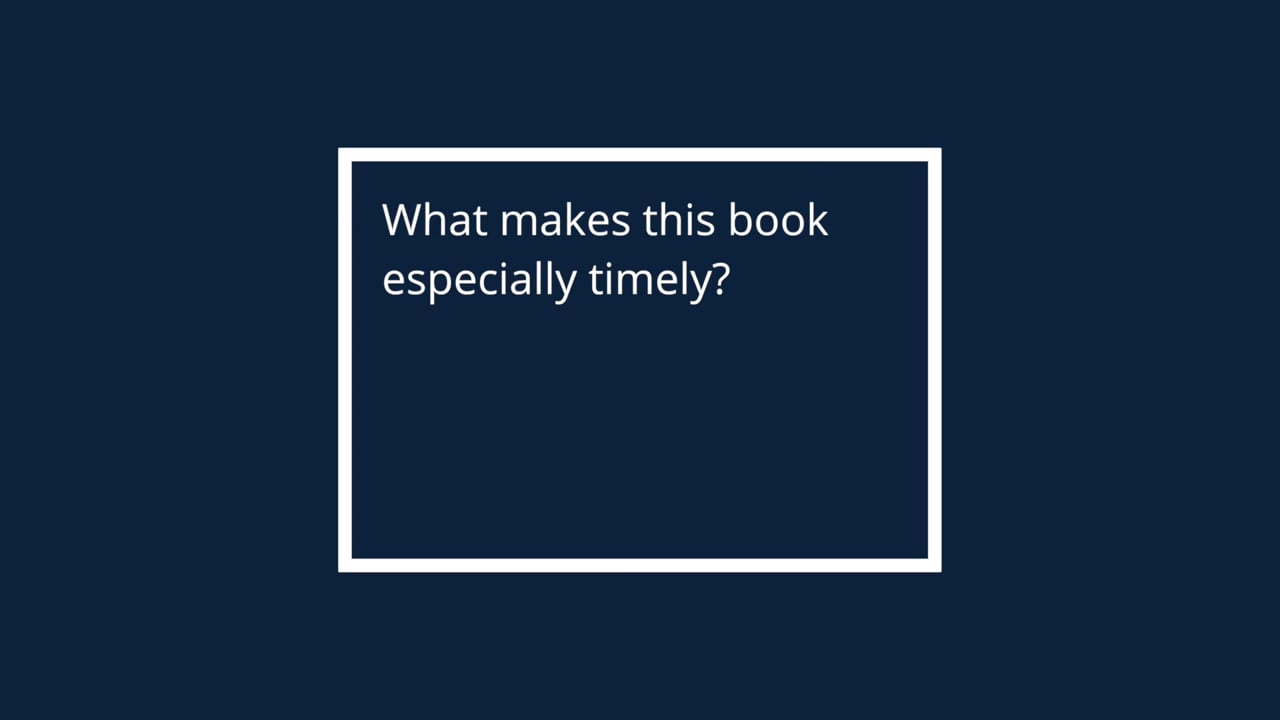 What makes this book especially timely?
