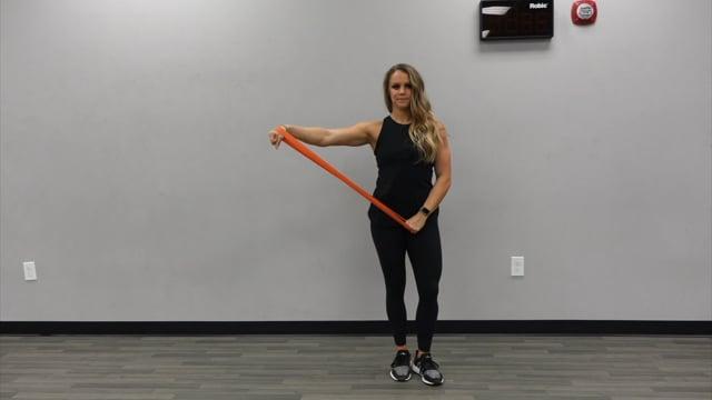 Banded Single Arm Side Raises