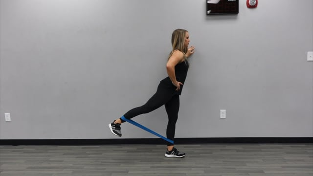 Standing Banded Glute Kicks