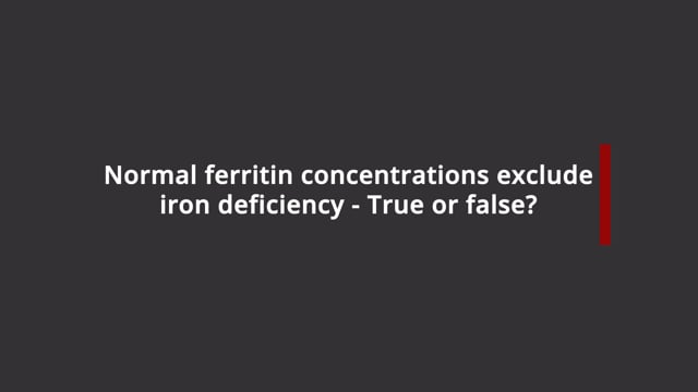 Ferritin levels and iron deficiency