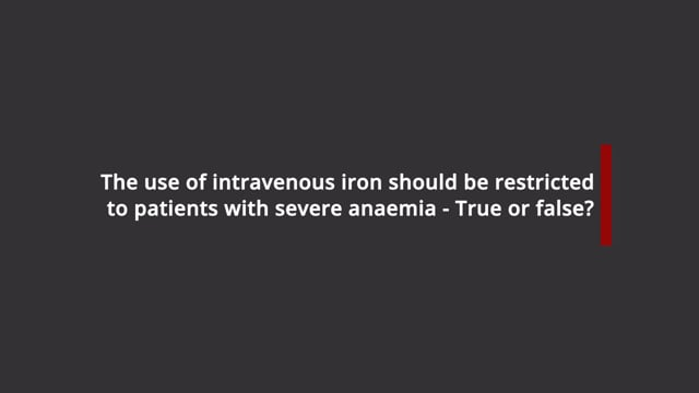 Intravenous iron and severe anaemia