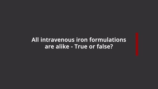 Intravenous iron formulations