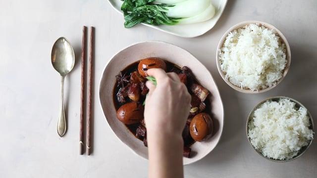 Braised Pork Belly & Eggs/ Chinatown London