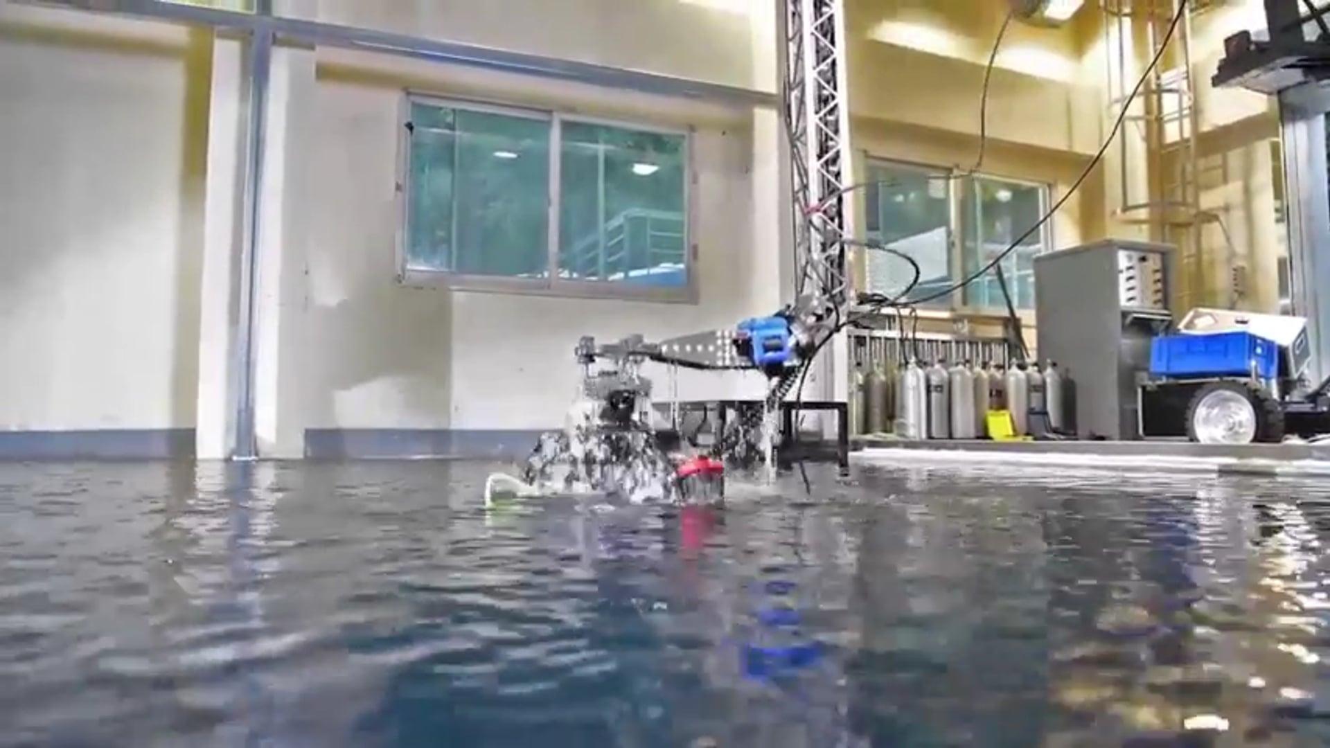 Underwater Filming as Poseidon s-13 Crane