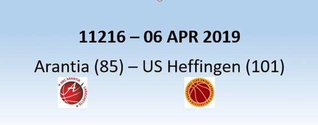 N1H 11216 Arantia Larochette (85) – US Heffingen (101) 06/04/2019