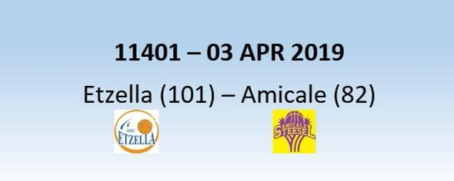 N1H 11401 Etzella Ettelbruck (101) - Amicale Steinsel (82) 03/04/2019