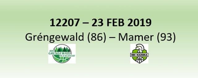 N2H 12207 Gréngewald Hueschtert (86) - Mambra Mamer (93) 23/02/2019