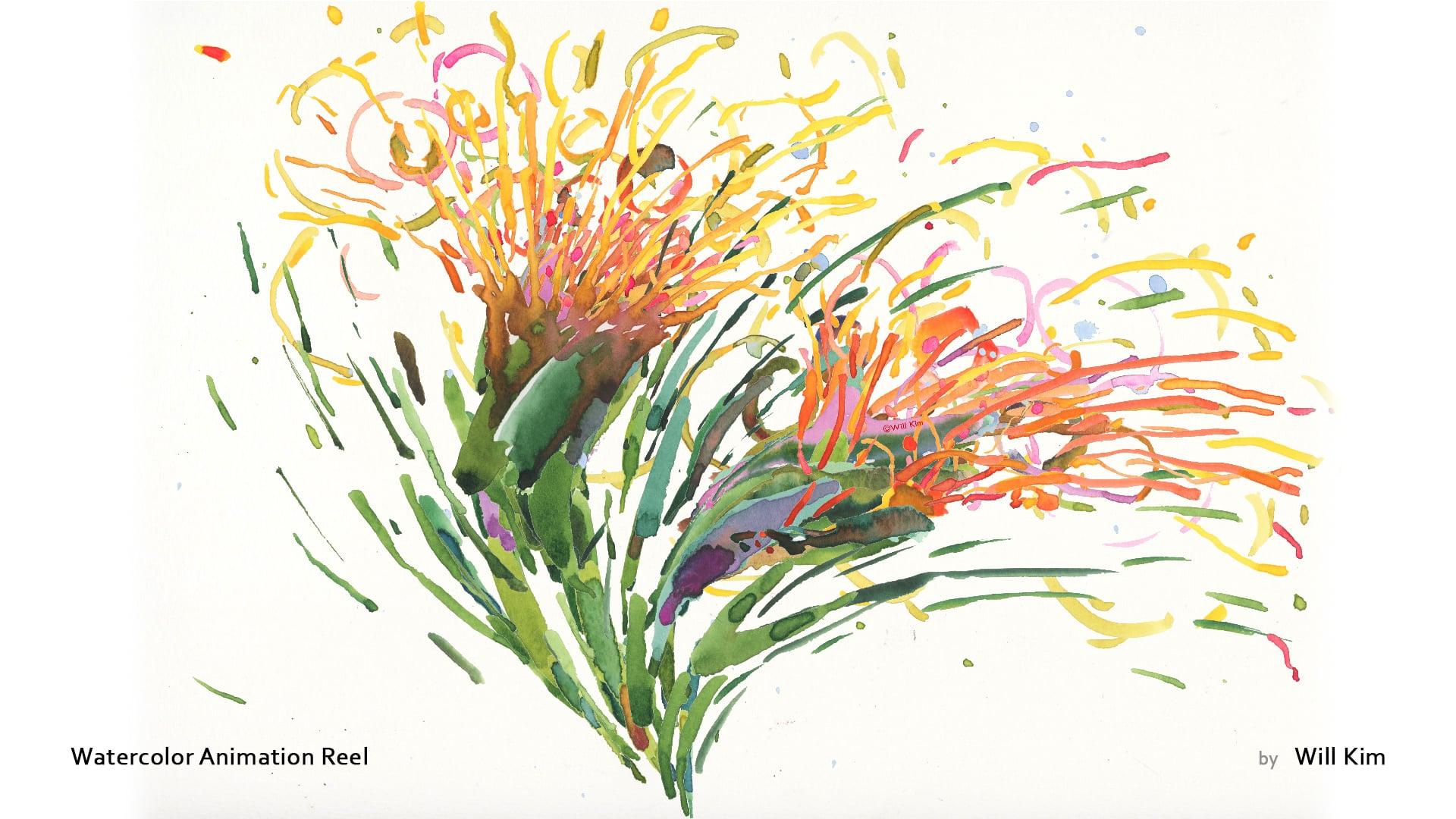 Watercolor Animation Reel