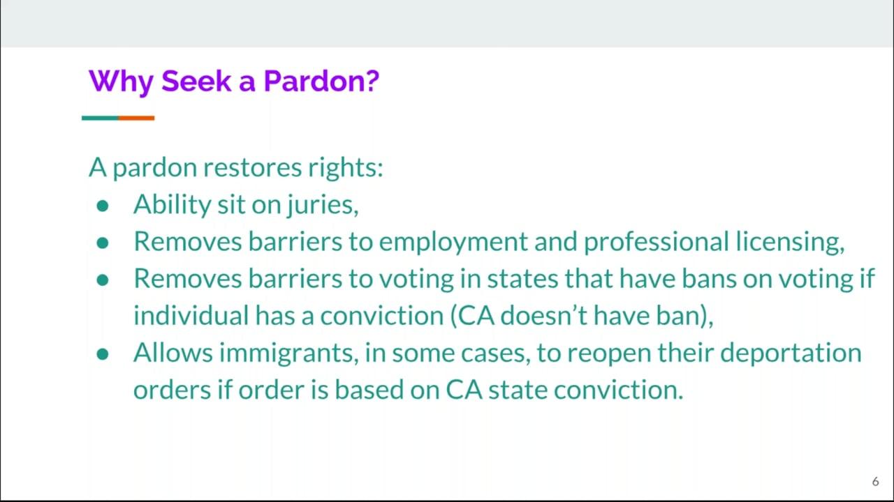 Webinar: How to Apply for a Pardon & AB 2845