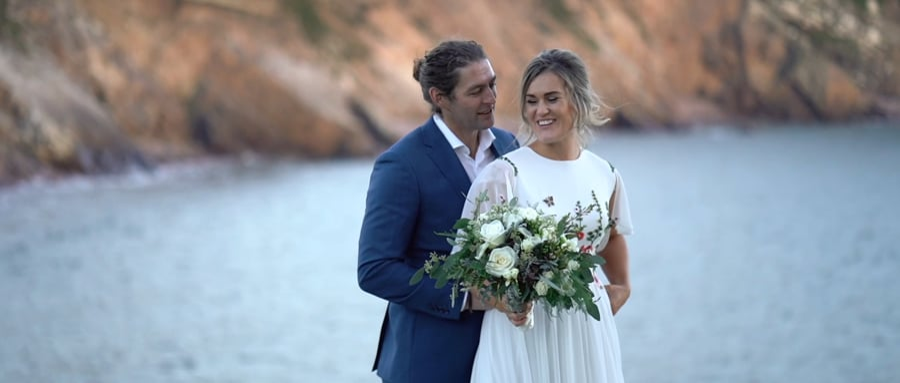 E and D wedding film at Dingle Skellig