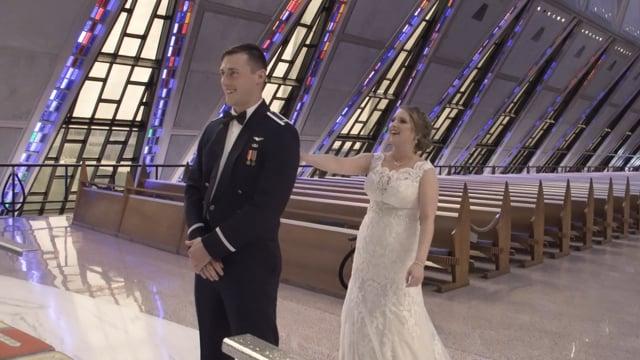 Laurel + Chad Wedding Celebration Highlights - Air Force Academy Chapel + Garden of the Gods CC Colorado Springs - Aug 2018