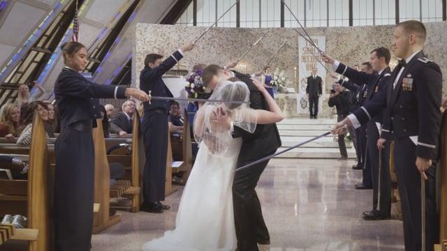 Lauren + Chris Wedding Highlights - Air Force Academy Chapel + Garden of the Gods CC, Colorado Springs - Apr 2017