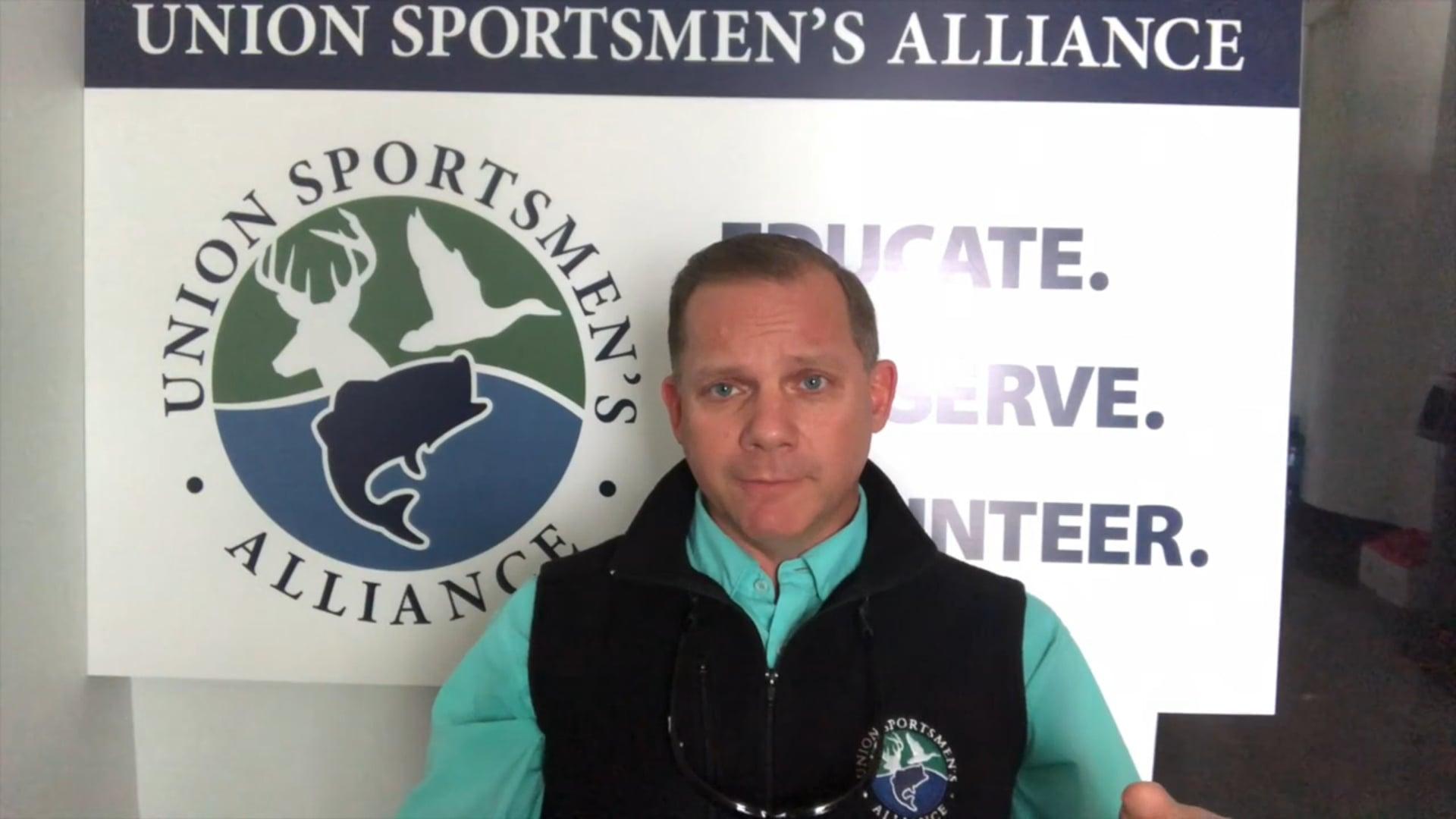 Scott Vance of Union Sportsmen's Alliance