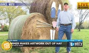 Hay You! Local Man Makes Artwork Out of Hay Bales