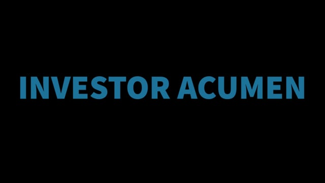 James Kostohryz – Introducing Investor Acumen