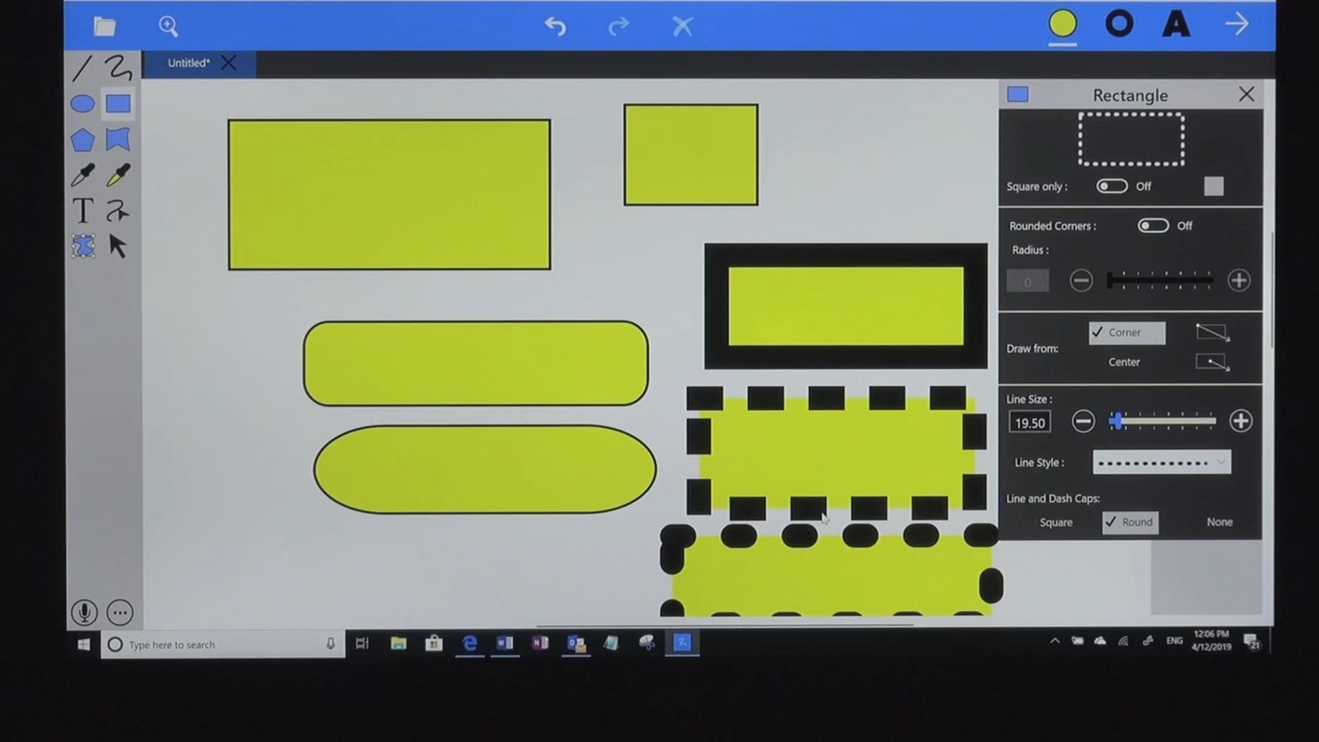 Ellipse & Rectangle tools