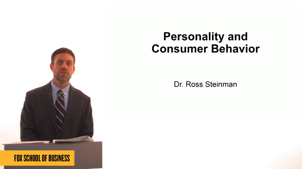 61334Personality and Consumer Behavior